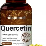 NatureBell Quercetin 1000mg Per Serving, 240 Capsules, Powerfully Supports Cardiovascular Health, Immune System and Bioflavonoids f
