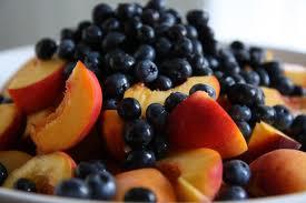 peach blueberry chocolatechip