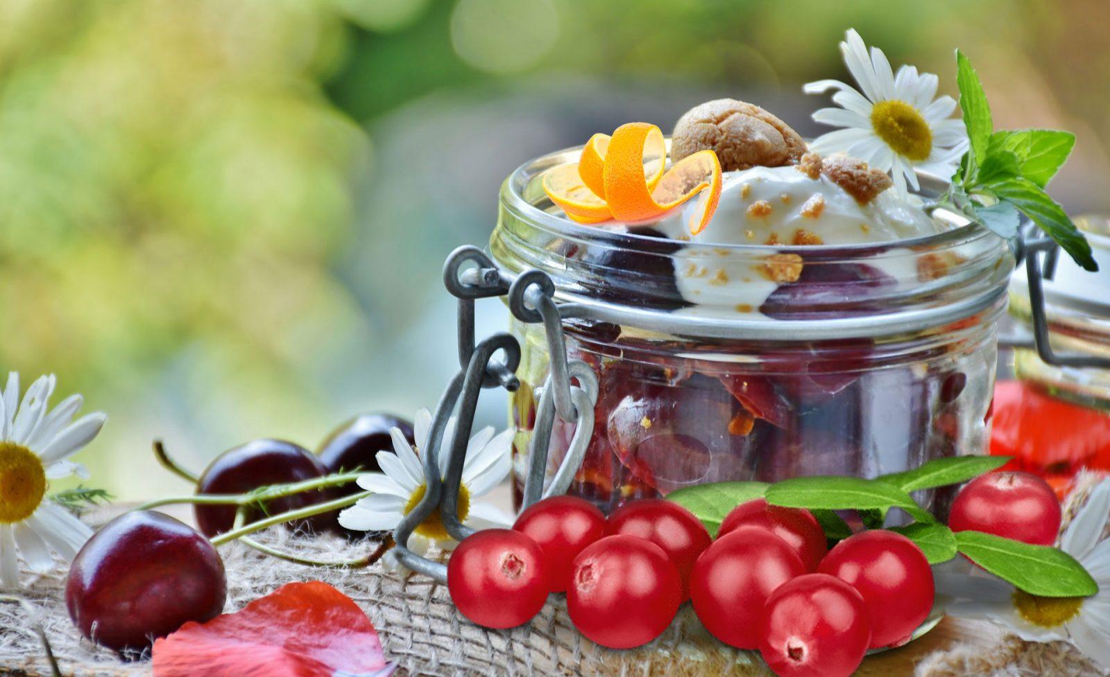 Maple-Cranberry Topped Frozen Yogurt