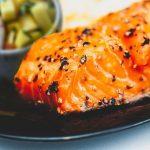 Double Sesame Salmon with Mango-Avocado Salsa