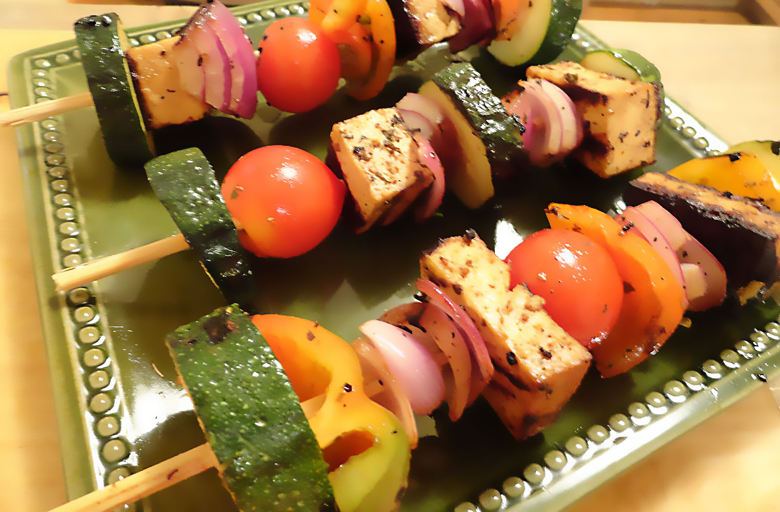 Smoky BBQ Soy Kabobs