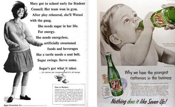 Vintage sugar ads from Dr John La Puma