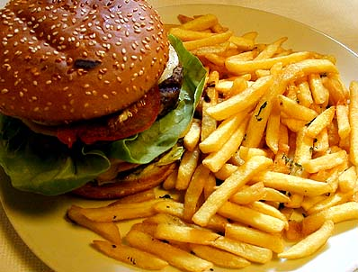Hamburger & Fries