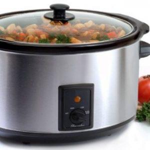 Maxi-Matic MST-800V Elite Gourmet Large 8-1/2-Quart Slow Cooker, Stainless
