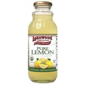Lakewood Organic PURE Lemon Juice, 12.5-Ounce Bottles (Pack of 12)
