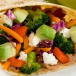 Zesty and Gluten Free Vegetable & Bean Burritos with Ripe Avocado