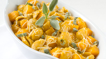 Pasta Shells with Sweet Melty Butternut Squash