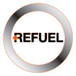 Refuel Logo Cross Black