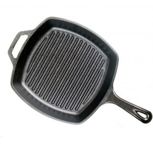 Lodge L8SGP3 Pre-Seasoned Square Grill Pan, 10.5-inch