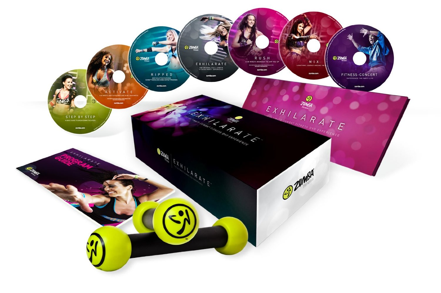 zumba exhilarate body shaping system dvd set dr john la puma. Black Bedroom Furniture Sets. Home Design Ideas