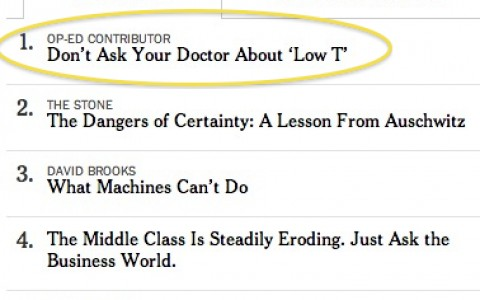 nyt #1 emailed low t