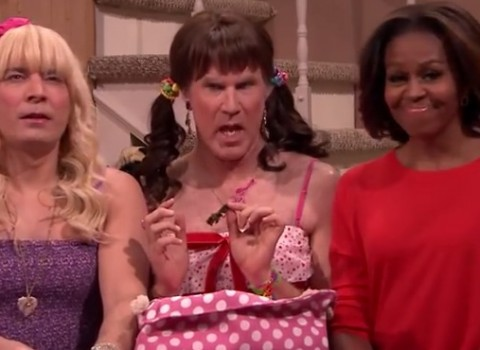 Michelle Obama, Jimmy Fallon, Will Ferrell