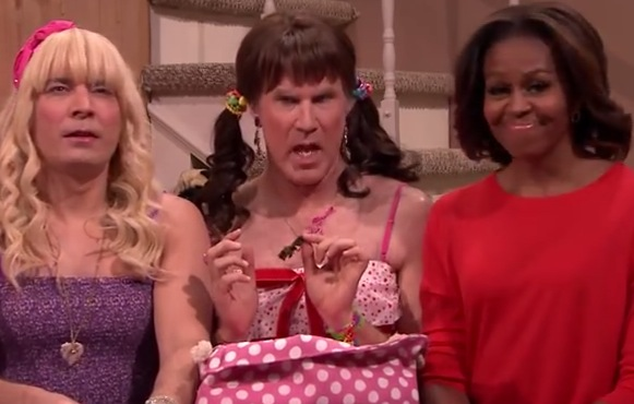 Michelle Obama, Jimmy Fallon, Will Ferrell