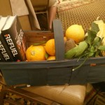 give away basket organic rare citrus