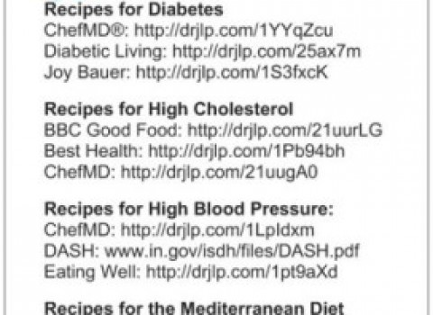 Rx Recipes for DM, Choles, BP. Medit Diet