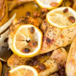 Roast Chicken with Lemon and Garlic Juices