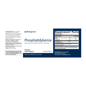 PhosphatidylSerine Nutrition Facts and Ingredients