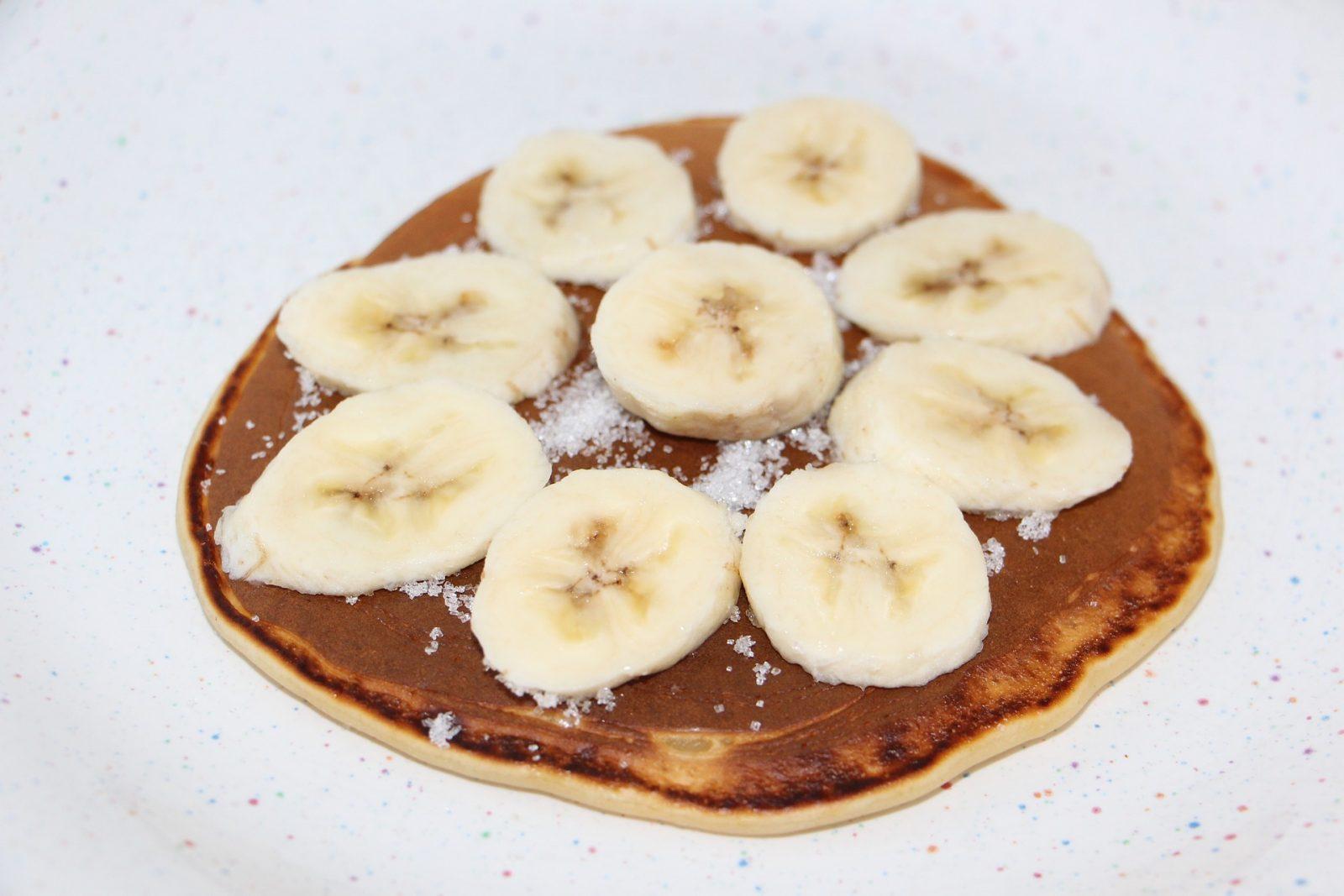 Caramelized Banana Pecan Pancakes