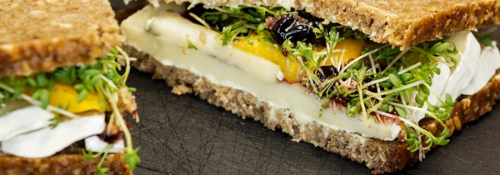 Grilled Summer Vegetable Sandwiches with Fresh Goat Cheese