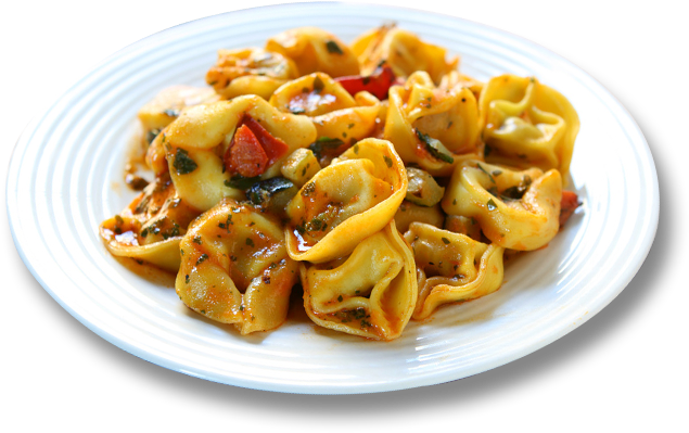Light but Hearty Tortellini Stew, with Fresh Soybeans