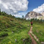 Girl walking in nature